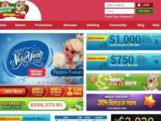 canadian dollar bingo screenshot