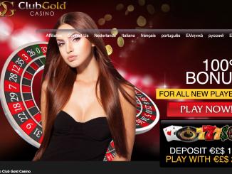 club gold homepage screen shot