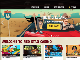 red stag casino homepage screen shot